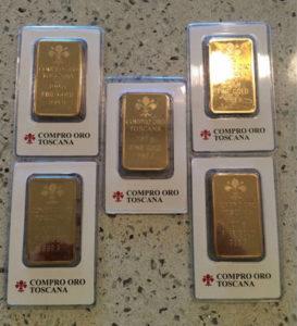 vendita lingotti oro
